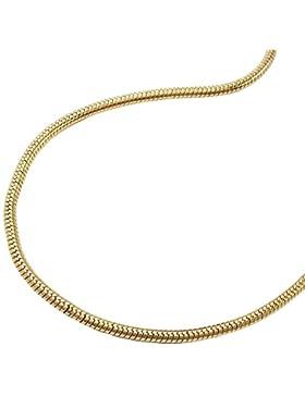 Halskette Kette dünne Schlangenkette gold-plattiert 38cm 219010-38