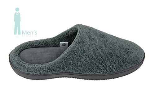 MOXO Hommes Chaussures en laine polaire Pantoufles / Chaussures Memory Foam Clogs