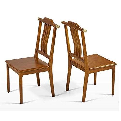 MJK Sillas, juego de madera maciza natural con diseño contemporáneo para el salón de la oficina, comedor, cocina, vestíbulo, recepción,...