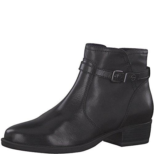 Tamaris Damen Stiefelette 25364-21,Frauen Stiefel,Boot,Halbstiefel,Damenstiefelette,Bootie,Reißverschluss,Blockabsatz 3.5cm,Black Uni,EU 40 -