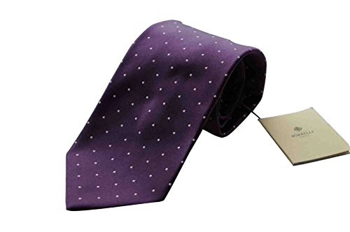 luigi-borrelli-napoli-italy-mens-tie-bnwt-luxury-silk-purple-polka-dot-7-fold