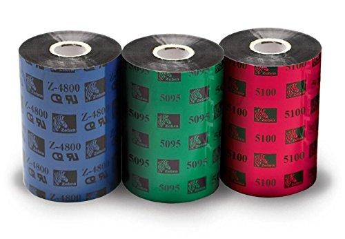 Zebra 2100 Wax Thermal Ribbon 80mm x 450m Farbband für Inkjetdrucker (105SL, 110PAX4, 110XiIIIPlus, 140XiIIIPlus, 170PAX4, 170XiIIIPlus, R110Xi, S4M, ZM400, ZM600 105S,..., Thermotransfer, Schwarz, 450 m, 80 mm x 450 m)