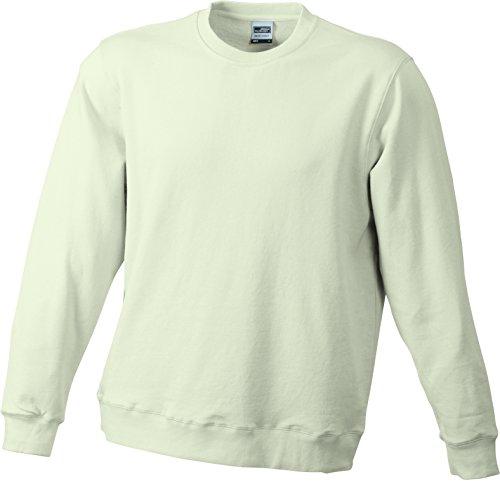James & Nicholson Herren Basic Sweat Sweatshirt Grau (Stone)
