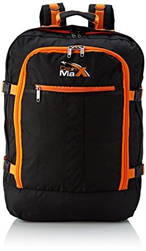 Cabin Max Metz Flugzugelassenes Backpack Groß leichtgewicht Handgepäckstück 55x40x20cm schwarz/orange