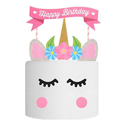 per Tortenstecker Tortentopper Kuchendeko für Geburtstag Torte Regebogen Kuchen Aufsatz Sticks ()