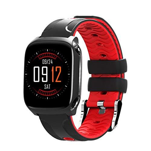 Farbdisplay Multifunktions-Sportchronograph Schritt Herzfrequenz Blutsauerstoff-Tracker Social Sharing HD Sprachanruf GPS-Positionierung Leben Wasserdicht Smart Watch/Kompatibel mit iOS Android-Gerät