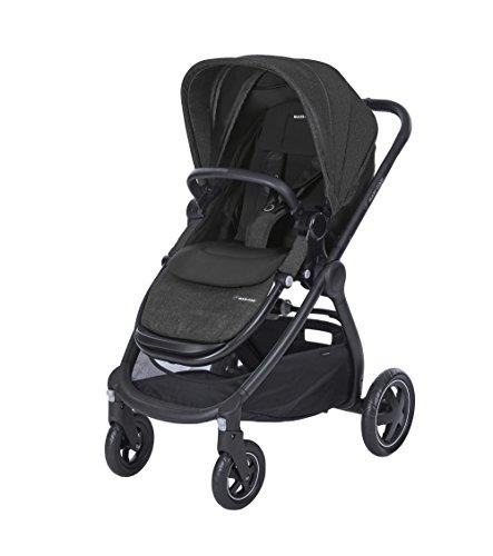 Maxi Cosi Adorra komfortabler Kombi Kinderwagen für ihr Kind, mit riesigem Einkaufskorb, einhändigem Faltmechanismus und geringem Gewicht von unter 12 kg ab Geburt bis ca. 3,5 Jahre, nomad black