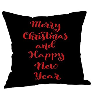 ADESHOP Christmas Cushion Cover, Xmas Gifts, Christmas Pillow Case Glitter Cotton Linen Sofa Throw Cushion Cover Home Decor 41hATAL0YwL