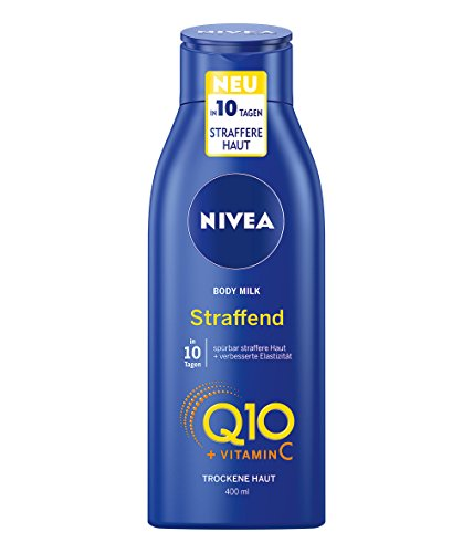 NIVEA Q10 Hautstraffende Body Milk im 4er Pack (4 x 400 ml), Körpermilch mit Q10 und Vitamin C für gestärkte Haut und verbesserte Elastizität, pflegt die Haut und sorgt für Geschmeidigkeit