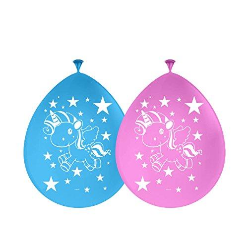 Einhorn Luftballons Ballons Latexballons 30cm Durchmesser 8 Stück mit Palandi® Sticker