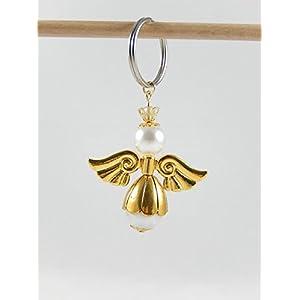 Engelanhänger, Schutzengelanhänger, Schlüsselanhänger gold, Taschenbaumler, Schutzengel, Anhänger