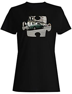Rompecabezas vintage viejo coche hermoso uk camiseta de las mujeres e563f