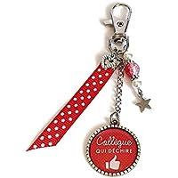 Cadeau Collègue de travail, porte clés collègue femme, Collègue qui Déchire, porte clé, bijoux de sac