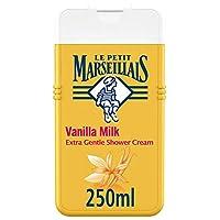 LE PETIT MARSEILLAIS، كريم استحمام، فائق اللطف، حليب الفانيلا، 250 مل