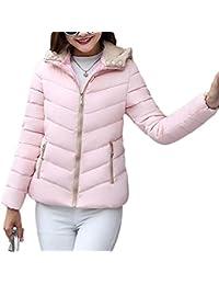 e23c81e1a03b0 TianBin Mujeres Invierno Delgada Slim Abrigos Cortas Casual Sólido con  Capucha Acolchado Cálido Chaqueta