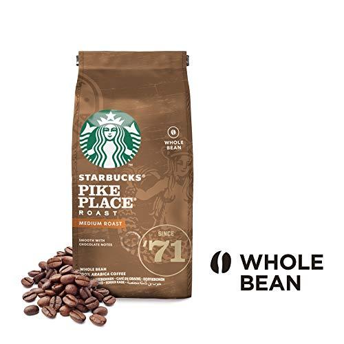 Starbucks Pike Place Kaffee, Medium Roast, Röstkaffee, Sanft, Schoko-Note, Ganze Bohnen, 200g