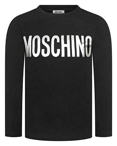 Moschino t-shirt in cotone bambino, 6, nero