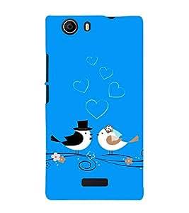 Fiobs christian weddind cute bird couple romantic love true Designer Back Case Cover for Micromax Canvas Nitro 2 E311