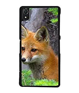 Fuson Designer Back Case Cover for Sony Xperia Z2 (5.2 Inches) (Lomdi Cunning Animal Wild animal running)