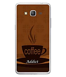 PrintVisa Coffee Addict High Gloss Designer Back Case Cover for Samsung Galaxy Grand Max G720