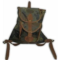 Zurron mochila de caza en camuflaje tamaño pequeño. Medidas 38 x 28 cm.
