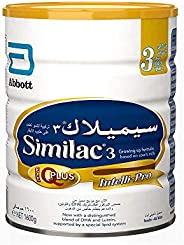 Similac Gain Plus 3 Growing Up Formula Milk For 1-3 Years Old, 1600g