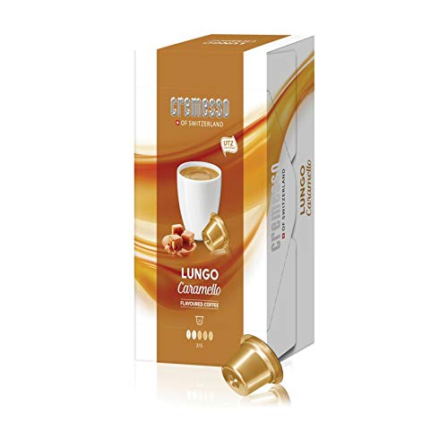 Cremesso Lungo Caramello - Kaffee mit Karamelgeschmack 4er-Pack (4 x 96g)