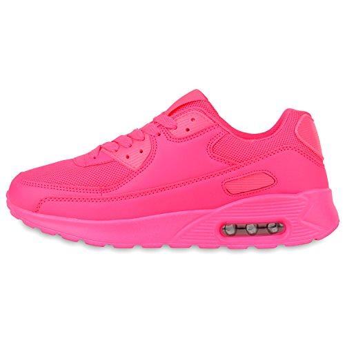 Damen Herren Unisex Laufschuhe Neon Runners Casual Schuhe Sportschuhe Neonpink