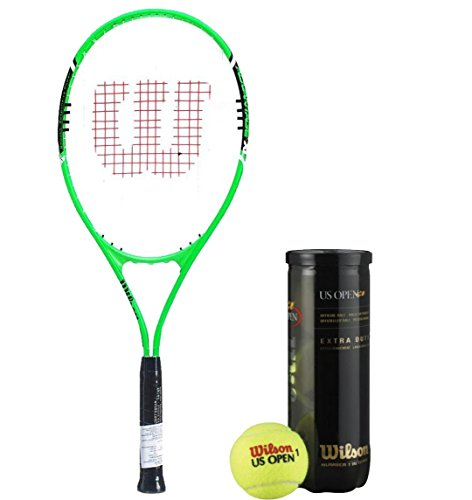 Wilson Racquet and Ball Tennis Kit (Advantage XL 3 Tennis Racquet for Adults + US Open Tennis Ball, pack of 3)  available at amazon for Rs.2304