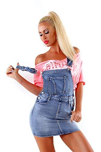 7b6c84f367a OSAB 4050 Fashion Damen Jeans Rock Latzrock Jeansrock Minirock Träger  Streetwear