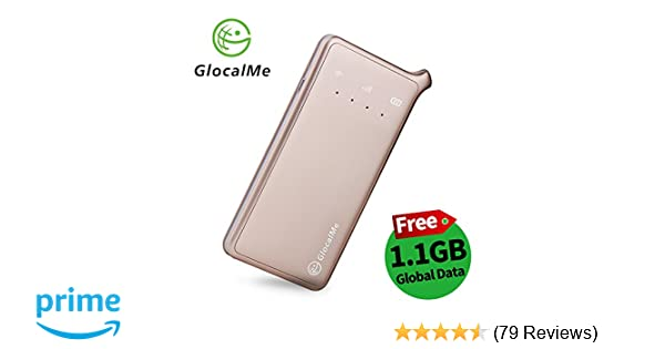 GlocalMe U2 4G LTE Mobile Wi-Fi Hotspot, Portable Wi-Fi for Travel with  1 1GB initial Data, Dual SIM, Free roaming in over 100 countries/regions,