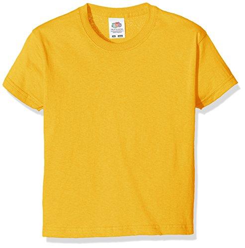 Fruit of the Loom Jungen T-Shirt SS132B, Yellow (Sunflower Yellow), 3-4 Jahre
