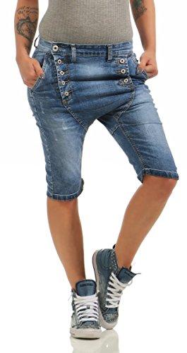 34,36 Lexxury hell khaki Shorts kurze Hose Baggy Style Knöpfe RV Gr