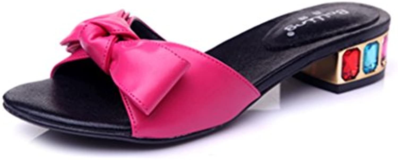 BaiLing Pattini di estate delle donne pattino mezzo mezzo mezzo aperto pattini femmina dei sandali di piccola dimensione di... | Alta qualità ed economia  | Maschio/Ragazze Scarpa  690248