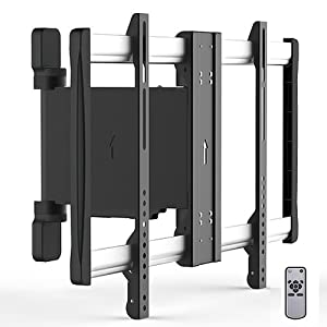 Ricoo ® motorized Wall Bracket TV swivelling SE2564 electric Wall Mount Television Wall Mount motorized LED LCD Mount f TV Wall Brackets mounts flat screen display universal TV Mount VESA 200x200 400x400 600x400 #With Remote control #