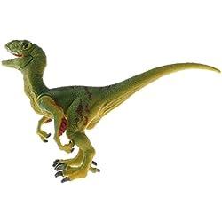 Magideal Juguete de Animal Realista Figura de Simulación de Mundo Jurásico Dinosaurio de 25 Especies en PVC - velociraptor gris