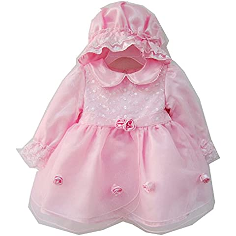 H/B Cute Doll Collar Baby Girl Birthday Party Flower Dress with Hat 12-18 months