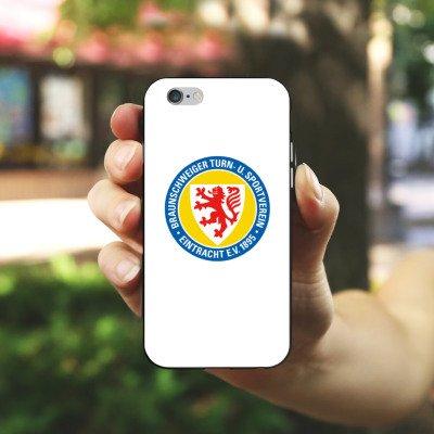 Apple iPhone X Silikon Hülle Case Schutzhülle Eintracht Braunschweig Fanartikel BTSV Fußball Silikon Case schwarz / weiß