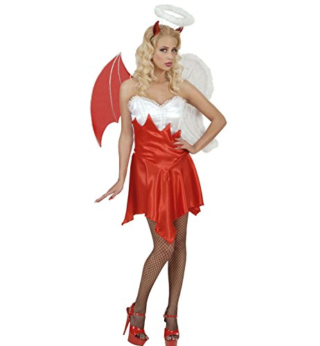 Widmann 56081 - Kostüm Engel / Teufelchen, Kleid, Flügel und Kopfschmuck, Größe S