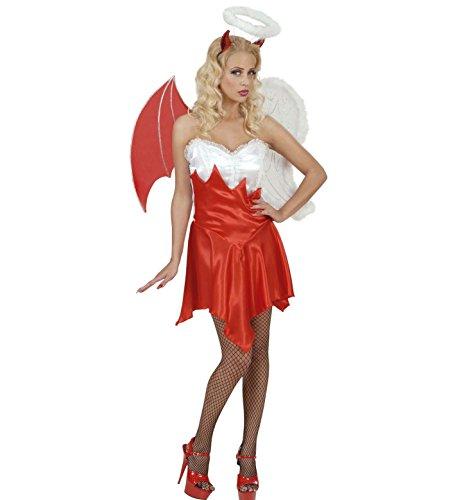 faschingskostueme engel und teufel Widmann 56081 - Kostüm Engel / Teufelchen, Kleid, Flügel und Kopfschmuck, Größe S
