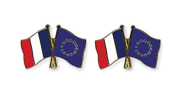 europe Yantec freundschaftspin de broche /épingle doppelflaggenpin france