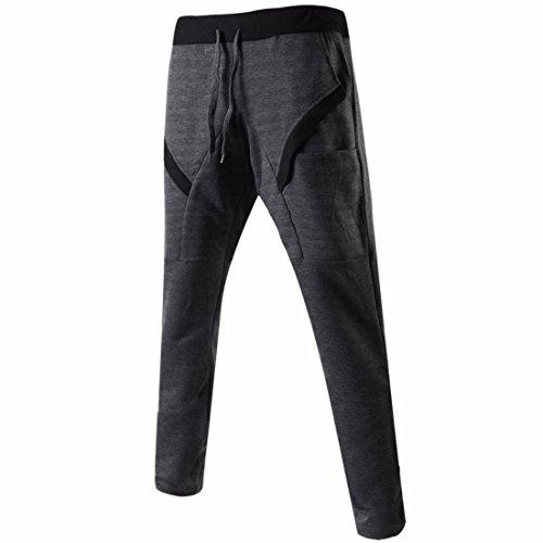 Men's Long Casual Joggers Trousers Dark Gray