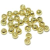 30pcs Tungsten Perlen 3,45mm 6Farben Fliegenbinden Kopf Perlen Materialien Fly Angeln