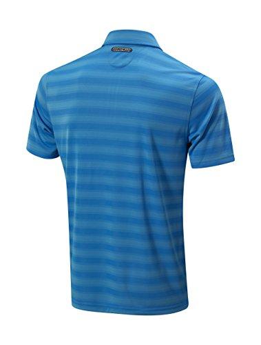 Mizuno Mens Textured Zip Polo Shirt Mens blau (brilliant blue)