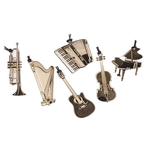 YeahiBaby 6pcs segnalibri Musicali Occidentali segnalibri Vintage segnalibri in Metallo Regali di cancelleria (Modello Misto)