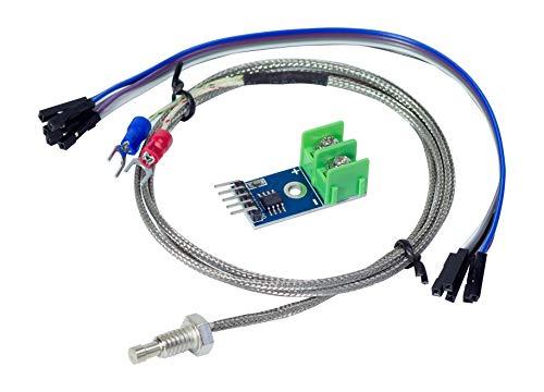 MissBirdler MAX6675-200°C - 1300 °C Thermocouple Sensor Module Temperature Detection Development Module for Arduino Prototyping DIY -