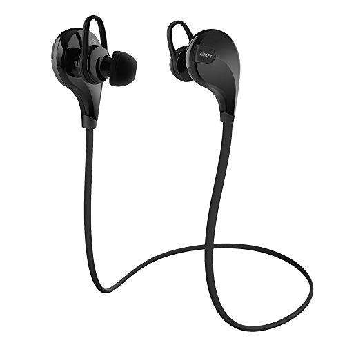AUKEY-Auricolare-Bluetooth-41-Headset-Stereo-per-Sport-Earphone-Bluetooth-Cuffie-Wireless-con-Microfono-per-iPhone-6-Plus-6-5s-5c-5-Samsung-Smartphone-Tablet-PC-ecc-Nero