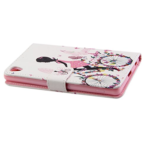 iPhone 6S plus Brieftasche, Felfy Ultra Slim Flip für / Apple iPhone 6S Plus / 6 Plus (5.5 Zoll) / Leder Etui Ledertasche Schutzhülle Case Cover / Relief Schön Rosa Rose Blume Stil / 1x Rosa Flower An Biking Girl