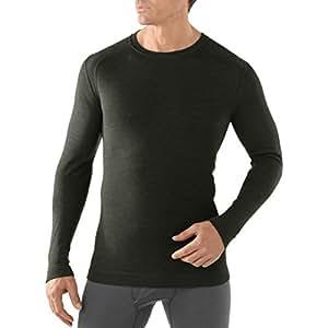 Smartwool Men's nTS mid 250–T-shirt à encolure ras du cou pour homme, à manches longues M verde - Olive Heather