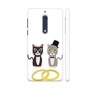Colorpur Wedding Cats With Rings Artwork On Nokia 5 Cover (Designer Mobile Back Case) | Artist: Torben